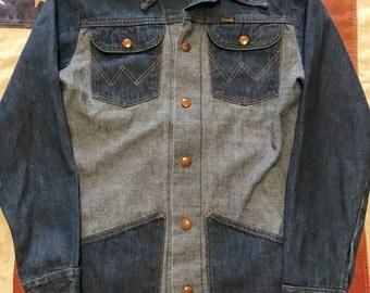 Vintage Wrangler SELVEDGE denim shirt jacket