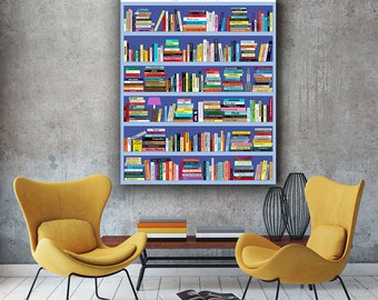 Gilmore Girls Rory Stars Hollow Book Club reading list, All books referenced in show + 2 surprises = 341 books! Book lover print bedroom art