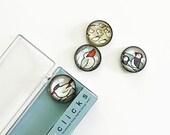 Coast birds magnets, cute beach bird magnet set