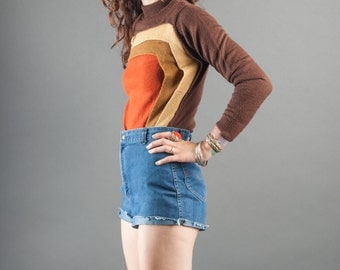 Ultimate 1970's Color Blocked Sweater