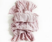 Pure Linen Scarf / Pink Scarf / Natural Linen Shawl / Hand Dyed Linen Scarves / Woman Fashion Accessories / Flax Beach Scarf