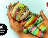 Loom Knitting PATTERNS Toys Doll Amigurumi Tiny Dolls - Includes Video Tutorial by Loomahat