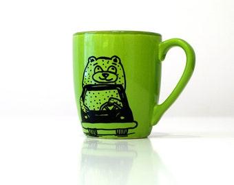Hot chocolate mug Childs mugs Coffee mug Child's gift Ceramic mug Tea and coffee cup Funny mugs Bear mug Car mug Big coffee mug