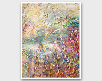 Quadri moderni Dot painting abstract Dot art painting Abstract painting print Abstract dot print Modern painting Abstract art Modern art