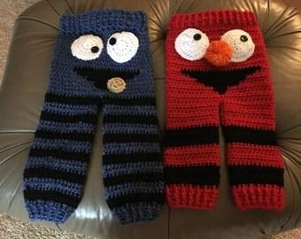 Cookie Monster or Elmo pants