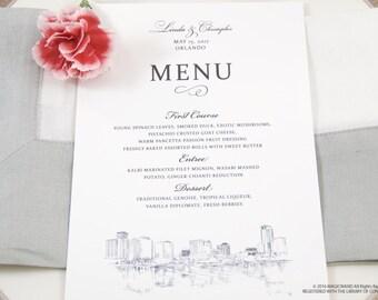 Orlando Skyline Dinner Menus (Sold in sets of 25)