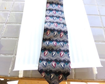 Vintage Courchevel by Damon Silk Tie, Vintage silk tie, name brand tie