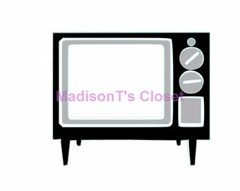 Retro Vintage Television TV SVG Cutting Digital File Only