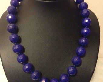 Raw Sapphire stone 12mm necklace