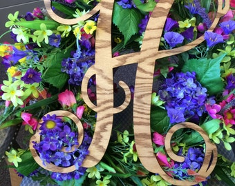 Wood Monogram- One letter, Rustic Chic, Stained, Painted