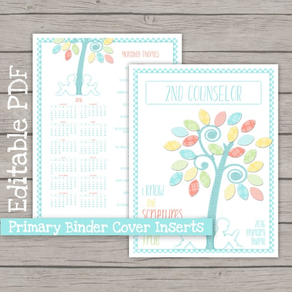 Binder Cover Inserts - LDS Primary 2016 Theme PRINTABLE I Know The ...