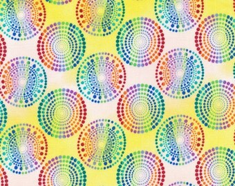 Paintbrush Studios Calypso Turtles Yellow Quilters Cotton Fabric BTY