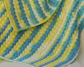 Lemon Swirl Baby Blanket