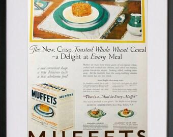 1927 MUFFETS original vintage ad food cereals meal nostalgia 20s nostalgia retro advertising print