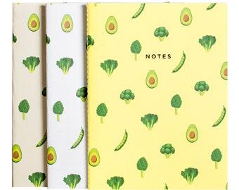 Vegetable Notebook Journal Diary Set