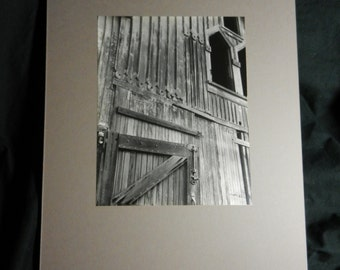 Vintage Original Professional Photographer Russian Architectural Photograph on Board