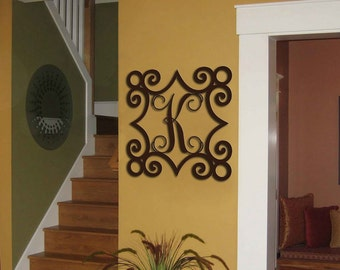 Initial Wall Art personalized home decor & accentssams metalsamsmetalworks