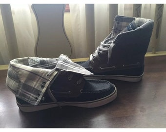 Sperry Top Sider High Top Tennis Shoes Size 7 Women's.