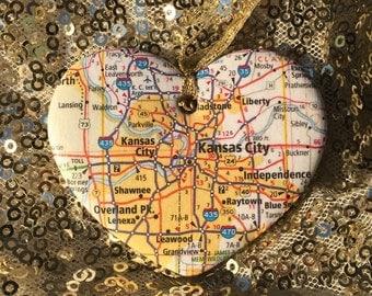 Kansas City Map Ornament