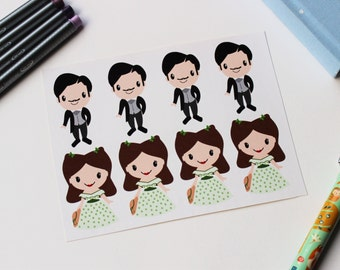 Gone with the Wind (Rhett and Scarlett) Stickers |Perfect for Life Planners, Planning, Bullet Journals and Scrapbooking | 2 inches
