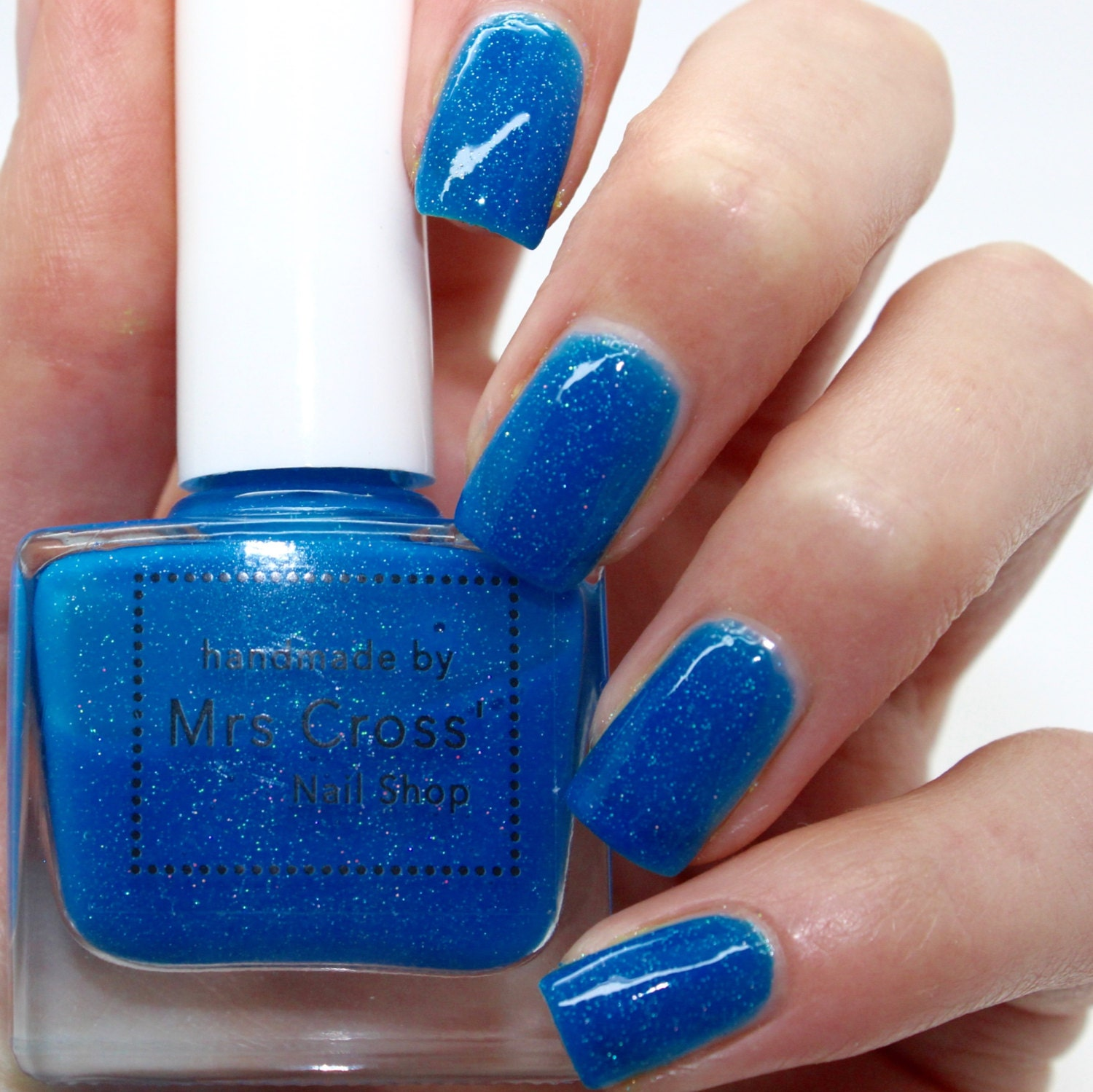 Neon Blue Nail Polish: Mullet 10ml Bright Blue Neon Nail Polish By MrsCrossNailShop