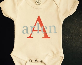 Initial w/ Name Personalized Onsie