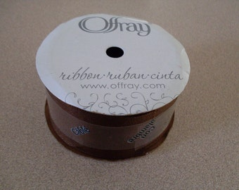 Offray Cocoa Brown Wired Ribbon