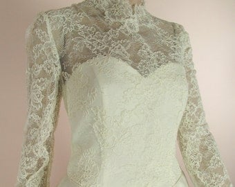 Vintage wedding Dress 90's – Bridal gown from 1990s - Lace Princess Wedding Gown - Sweetheart Neckline- Grace Kelly Wedding Dress