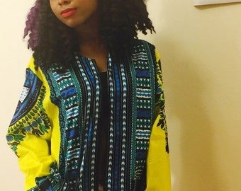 Long Sleeves Dashiki Jacket
