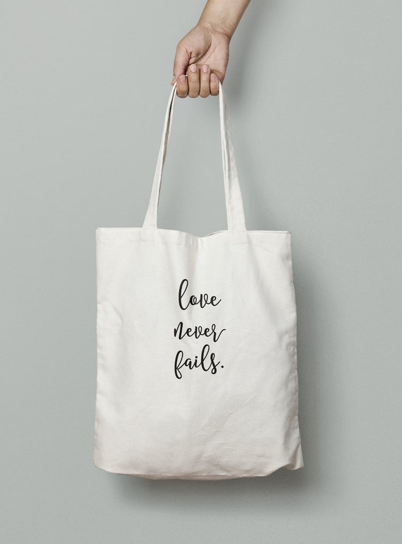 Love Never Fails Tote, Wedding Tote, Wedding, Favor, welcome bag, wedding party tote