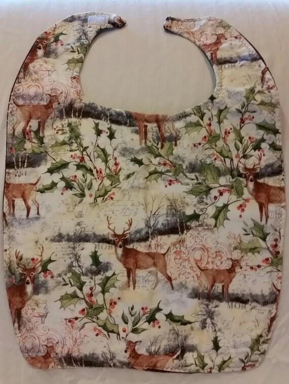 Winter Deer Large/Adult Bib
