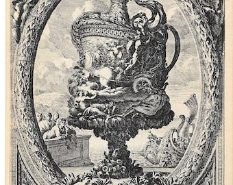 Babylon Baroque 18th Century French Ewer Design by Auguste Vincent, 4 rue des Beaux Arts, Paris, France, No. M/85, Unused 1900 Postcard