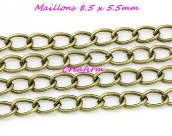 3 m chain Bronze 8.5x5.5mm