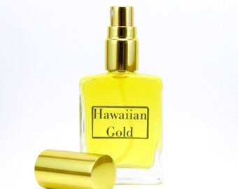 Hawaiian Gold-100% Natural Tropical Perfume, Sandalwood, Coconut, Pineapple Perfume,  Sweet and Creamy with a hint of sharp earthiness