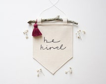 "Mini Canvas Banner- ""be kind"" - Wall Flag - Canvas Flag - Wall Banner"