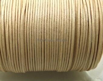 1MM Natural Waxed Cotton Cord 10 Yards