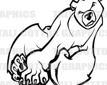 Polar Bear  Cartoon  Vinyl Decal #WL100