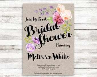 wedding shower invite - more colors available br42