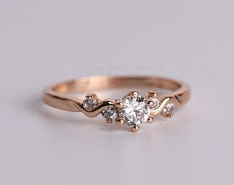 Handcrafted 18K Rose Gold Plated Ring