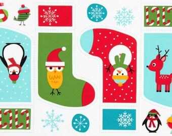 Holiday Jingle 4 Christmas Stocking Fabric Panel Ann Kelle Robert Kaufman