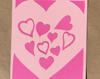 Cute Hearts Postcard for Valentine's Day