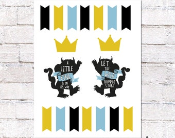 Where the Wild Things Are Cake Topper. Cake Decoration for Wild Things Baby Shower. *Digital File.