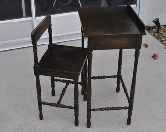 Imperial Furniture Telephone Table And Chair