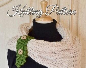 Knitting Pattern Super Bulky Yarn Chunky Yarn Hooded Scarf
