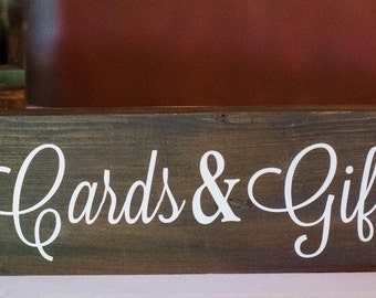 Cards and Gift Wedding Sign - Wedding Sign - Wood Signs - Gift Table Sign