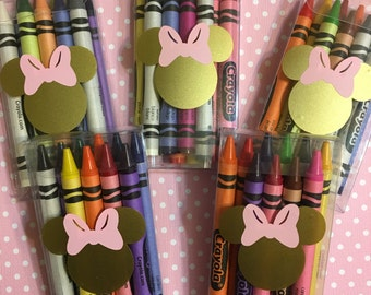 Minnie Mouse Party Favors (pink and gold) pink and gold Minnie mouse