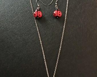 Lady bug Jewelry Set