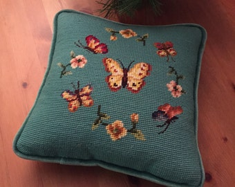 Handmade Vintage Pillow Removable Cover