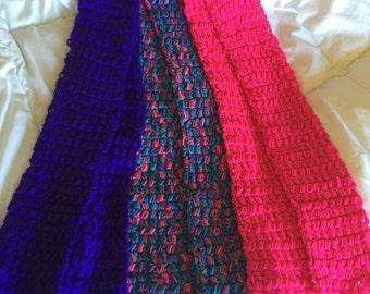 Scarf, crochet puff stitch