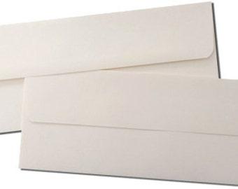 Double Wedding Tea Length Envelope Sets - Cream Outer & Inner Envelopes - 25 Pack
